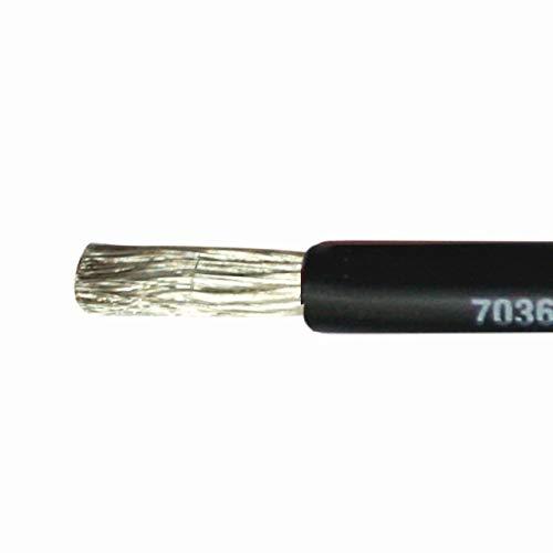 PowerMax 25mm² Marine Kabel einadrig Stromkabel schwarz rot, Farbe:schwarz