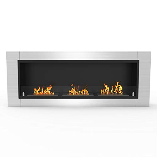 Best Prices! Regal Flame Elite Lenox Ventless Bio Ethanol Recessed or Wall Mounted Fireplace