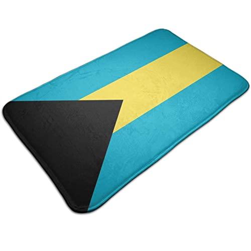 Badvorleger Badematte Duschvorleger Bahamas Flagge rutschfeste Plüsch-Fußmatten Läufer Teppich