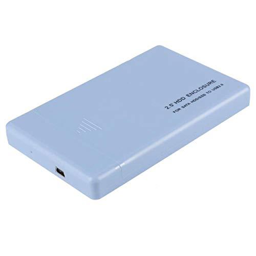 Lodenlli Unità esterna HDD Mobile Disk Box USB 2.0 Portatile portatile SATA 2.5 pollici USB 2.0 SATA Contenitore per disco esterno Mobile Disk Box