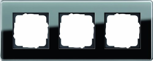 Gira 0213505 Abdeckrahmen 3 Fach Esprit Glas C, schwarz