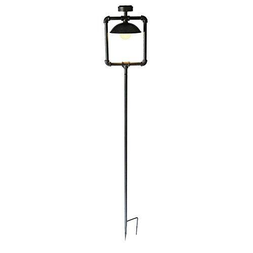 Solar-Leuchte Gwendoline, Metall, antik-schwarz, 160 cm hoch Solarlampe Wegeleuchte Gartenlampe
