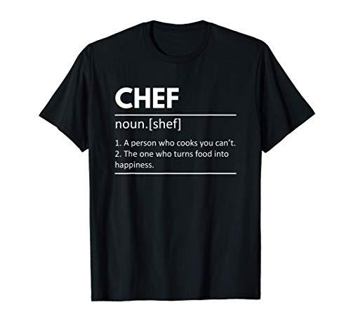 Definición de chef de cocina: regalo de chef cocinero Camiseta