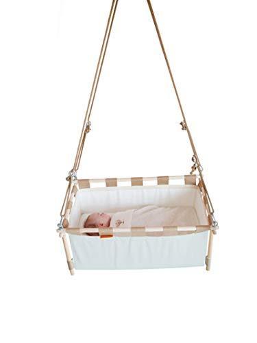 Berceau suspendu modulable pour jour ét nuit   Inclut le ressort et un matelas confortable en fibres de noix de coco   Berceau bébé   Lit de né