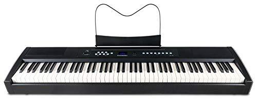 McGrey SP-100 Stagepiano (portables E-Piano mit 88 Tasten, Hammermechanik, Kopfhöreranschluss, Aufnahmefunktion) schwarz