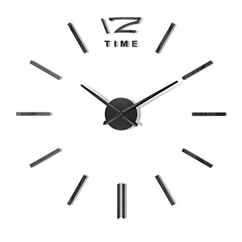 Negra Fortuna–Reloj de pared salón decoración pared Tatoo XXL 3d acrílico