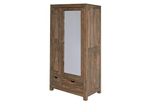 MASSIVMOEBEL24.DE Palisander Holz massiv Garderobe Sheesham Massivmöbel Nature Grey #197