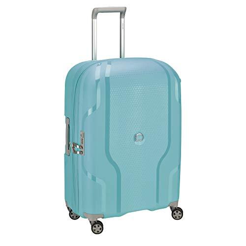 Delsey Paris - Clavel - Valise Trolley Extensible 4 Doubles Roues, 70 cm - Bleu Vert