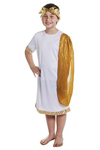 I LOVE FANCY DRESS LTD Déguisement pour garçon de Dieu Romain avec Cette Tunique + Une Ceinture + Une écharpe attachée à l'épaule + Une Couronne. Idéal pour Les fêtes de Fin d'école. ( XLarge )