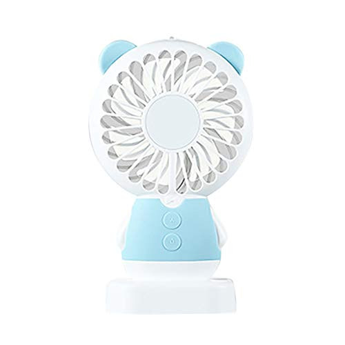 SOOTOP Mini USB Handheld Fan, Desktop LED Fan, Colorful Personal Portable Stroller Table Fan Rechargeable Battery Operated Cooling Folding Electric Fan Bedroom Travel Office Room Outdoor Household