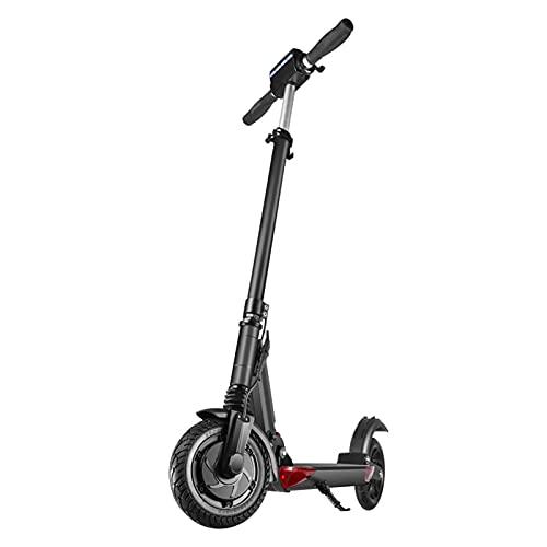 Scooter Plegable de Motor, Scooter Eléctrico 15.5 mph 350W, Rango Máximo de 15-30KM 18650mh Batería Frenos Dobles Doble Absorción de Impactos