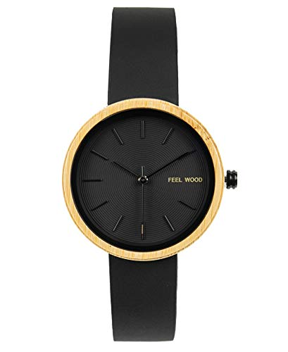 Feel Wood - Reloj de Mujer 36mm Hecho de Madera Natural y sostenibles - Correa Intercambiable (Bamboo)