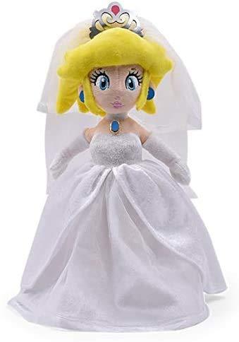JIAL TEDS 33 cm Super Mario Odyssey Kleid Braut Prinzessin Pfirsich Spielzeug Weiche Teddymädchen Mädchen Mädchen Mädchen Chongxiang (Color : Default)