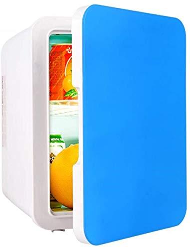 TXC Koelkast voor in de auto, kleine koelkast, mini-huishoudelijk, draagbare single deur, mini-koelkast, compact blauw