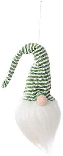 Gesichtslose Puppe Anhänger Lange Gestreifte Hut Puppe Anhänger Leuchtende Plüsch Puppe Spielzeug Hängen Anhänger Für Halloween Urlaub Dekors Grüne und weiße gestreifte Hut YMMSTORY