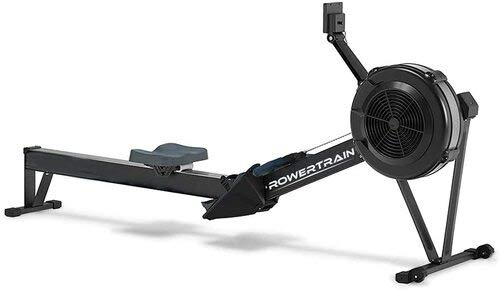 RowerTrain Air Resistance Home Rowing Machine, Adjustable Footrest and Bench, LCD Monitor-Real Time Data, Complete Workout, Easy Assembly-Foldable, High Calorie Burning