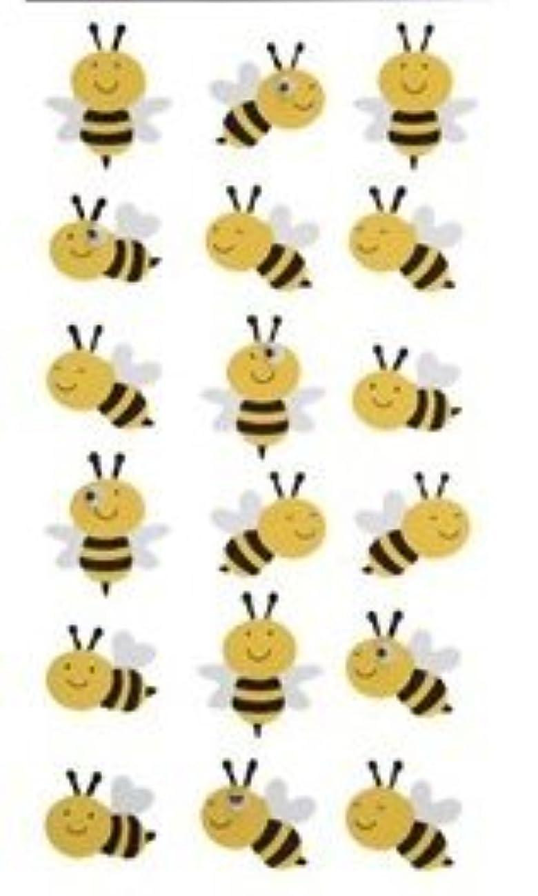 3-d Bumblebee Glitter Foam Dimensional Stickers Bee