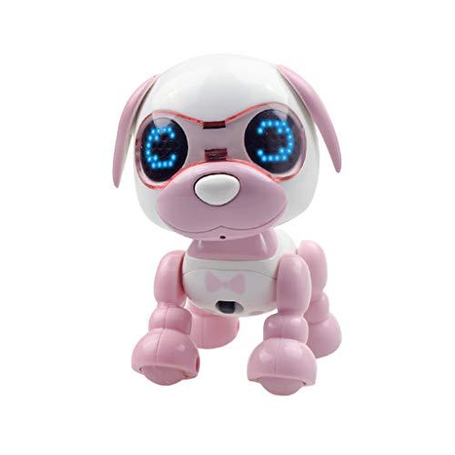 LEEDY Elektronische Haustiere Roboter Interaktive Smart Puppy Roboter Hund LED Augen Tonaufnahme Singen, Aufnehmen, Geburtstagsgeschenk Roboter Spielzeug für Jungen Mädchen