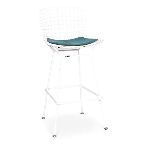 Knoll International Bertoia Bar Chair Metal Chair Armchair White Turquoise Chair Stool