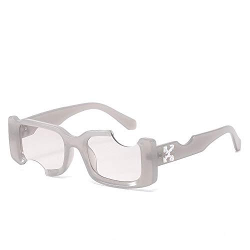 DovSnnx Gafas De Sol Unisex para Hombres Y Mujers Polarizadas Protección Uv400 Clásico Vintage Moda Sunglasses Montura Gris Lentes Gris Claro