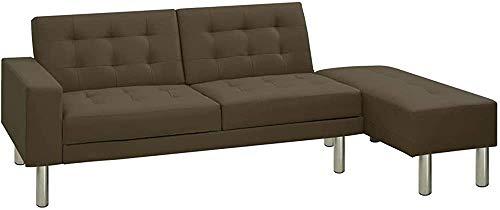 Divano letto multifunzione Convertibile divano in pelle artificiale,C