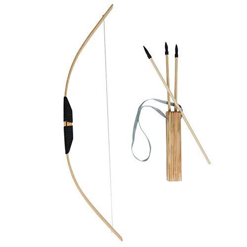 SHIYM-JT, Y Madera Conjunto De Flecha De Arco For Los Principiantes For Niños con 3 Flechas De Juguete Práctica, Los Niños Arco De Tiro con Arco Kit del Sistema 1 Aljaba Largo De La Juventud