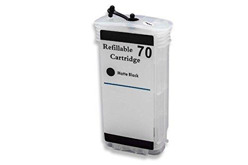 vhbw Cartucho de Tinta vacío Negro Mate Compatible con HP DesignJet Z5400 Impresora CISS (Compatible + Chip)
