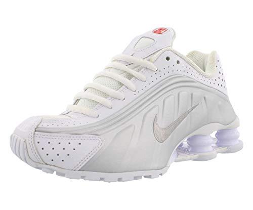 Nike Shox R4 (GS), Scarpe da Atletica Leggera Uomo, Multicolore (White Metallic Silver 000), 39 EU
