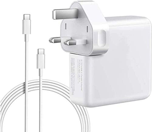 YWCKING Mac Book Pro Charger USB C 61W Compatible with New Mac Book 11''&13 Inch and Smartphones&Tablets with USB C and Type C Ports, with 2M C-USB-C Charger cables.