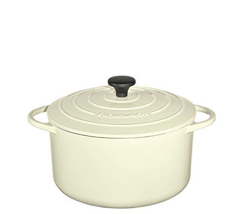 Küchenprofi Creme Bratentopf rund, 22cm Provence, Gusseisen, 22 cm