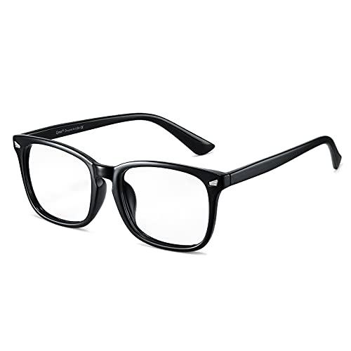 Cyxus Blaulichtfilter Brille Herren/Damen, Computer Laptop Gaming Brille, UV Schutzbrille gegen Kopfschmerzen, Klassisches Schwarzes Rahmendesign, Geschenke für Männer Frauen
