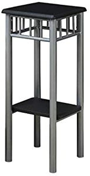 Monarch Specialties Black And Silver Metal Plant Stand