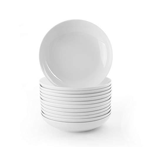 Holst Porzellan MA 121 FA2 Vorteilspack 12er Set Suppenteller 0,70 l, Porzellan