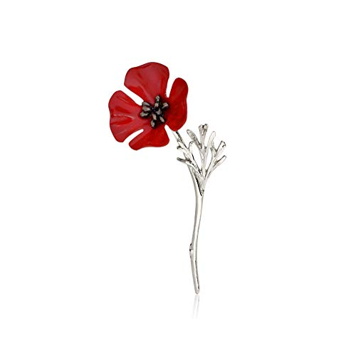 Ousyaah World War Animals UK Military Soldier Army Remembrance Day Broach Poppy Brooch Enamel Pin Badge Brooch (Sliver)