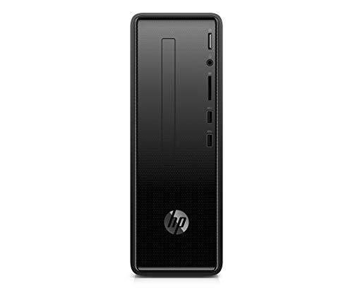 HP Slimline 290-a0006ns - Ordenador de sobremesa (AMD A4-9125, 8GB RAM, 256GB SSD, AMD Radeon R5, sin sistema operativo), color negro
