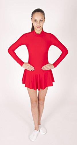 EMZA Eiskunstlaufbekleidung für Kinder und Erwachsene - Elastischen Lycra (Cyclamen, Größe: 128-134/ Alter: 7-9 Jahre)