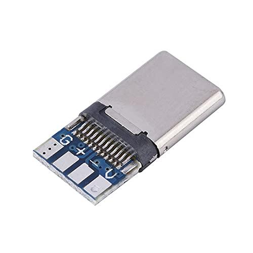 LKK-KK 20pcs 10 unids USB 3.1 Conector Tipo C 12PIN Carga RÁPIDO Mayor DE CARTAMIENTO MAJO Adaptador DE Receptor DE Soldador AL Cambio Y Cable PCB Módulo de la Placa (Package : 10pcs)