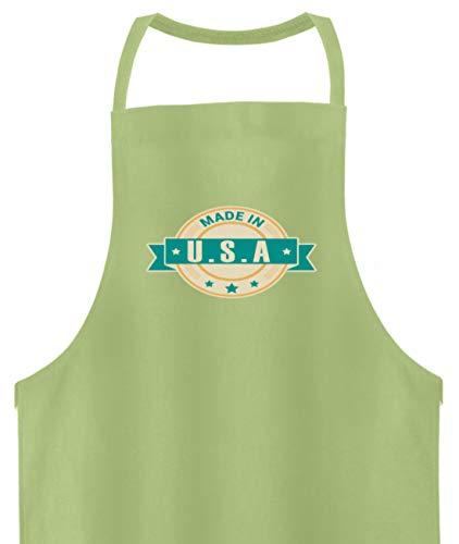 Schuhboutique Doris Finke UG (haftungsbeschränkt) Made in USA America United States of AME - Hochwertige Grillschürze -Einheitsgröße-Pastel Lime