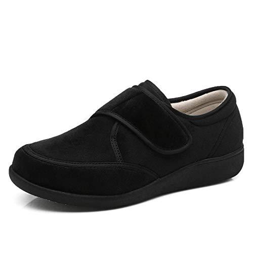 QFYD FDEYL Zapatos ortopédicos quirúrgicos para Mujeres,Zapatos Deportivos Casuales Ajustables, Zapatos para el Cuidado de la Diabetes-Black_38, Zapatos Diabéticos Respirable