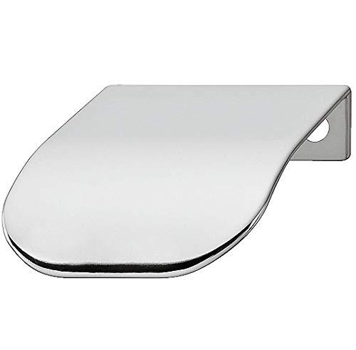 Gedotec randgreep voor kledingkast, meubelgreep, voor dressoir, kastgreep voor vitrine - H1839 | 44 x 46 x 32 mm | staal verchroomd gepolijst | 1 stuk