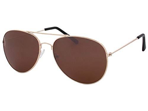Alsino 70er 80er Jahre Retro Sonnenbrille Pornobrille Piloten brille Viper Sonnenbrillen V-705bs,braun gold