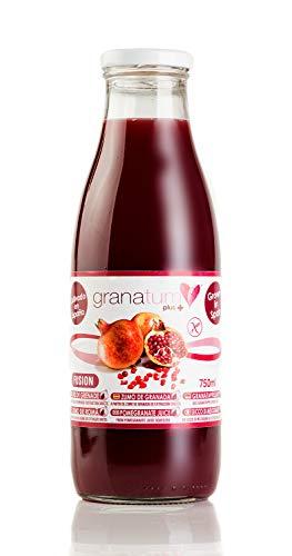 Zumo de Granada Exprimido - 12 Botellas de 750ml   Zumo 100% Natural de Alta Absorción   Extraído 100% Granadas exprimidas   Vegano   Origen España