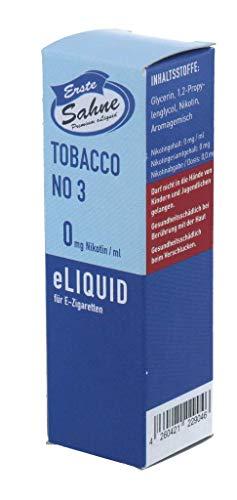 Erste Sahne Liquid - Tobacco No. 3-0 mg/ml, 20 g