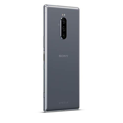 Sony Xperia 1 Smartphone Bundle (16,5 cm (6,5 Zoll) OLED Display, Dual-SIM, 128 GB Speicher, 6 GB RAM, Android 9.0) Grau + gratis 64 GB Speicherkarte [Exklusiv bei Amazon] - Deutsche Version