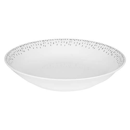 Assiette creuse Éole gris 20 cm (Lot de 6)