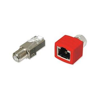 RG-6 Coax Cable over UTP Cat5e//6 Extender Balun Converter Adapter sender /& receiver