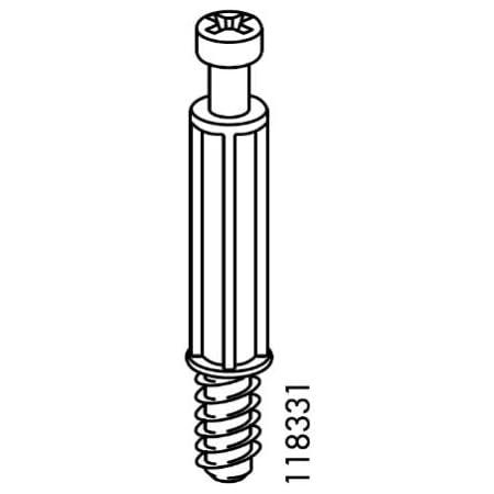 Small, 25mm HEMNES /& more for TYSSEDAL 4 x IKEA 115349 Spiral CAM Wheel Lock