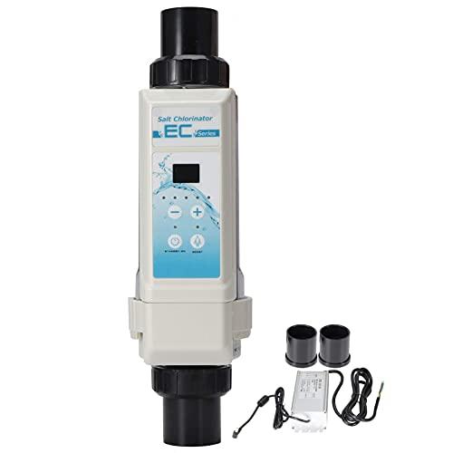 Voluxe Generadores de Cloro de Agua Salada para Piscinas 8G/H, Dispositivo clorador de Sal de electrólisis Multifuncional de diseño Integrado para spas Piscina 100‑240V
