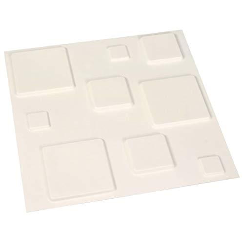 Festnight Wandpaneele 24 STK. 3D Ziegelstein PE-Schaum DIY Wand-Aufkleber Selbstklebendes Tapete, weißes Ziegelstein-Tapete, 3D Wand-Verkleidungen 0,5×0,5 m 6 m²