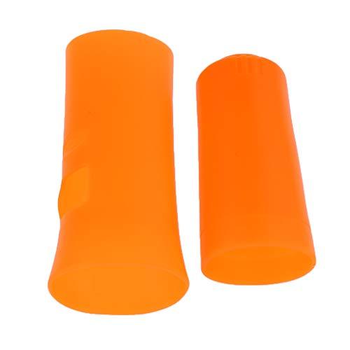 FLAMEER Muff Covers de Microfonos Juego de Mic Elástico Cubierta Electrónica Instrumentos Musicales - Naranja